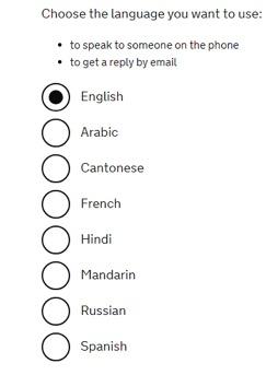 英国签证催签只能用英文